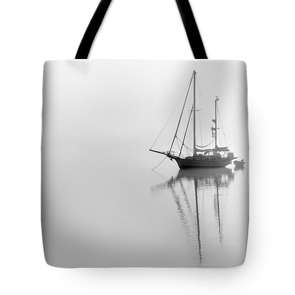 Moored On A Foggy Day Tote Bag