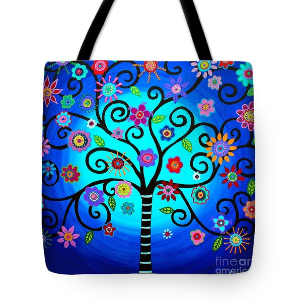Tote Bag featuring the painting Moore's Tree Of Life by Pristine Cartera Turkus