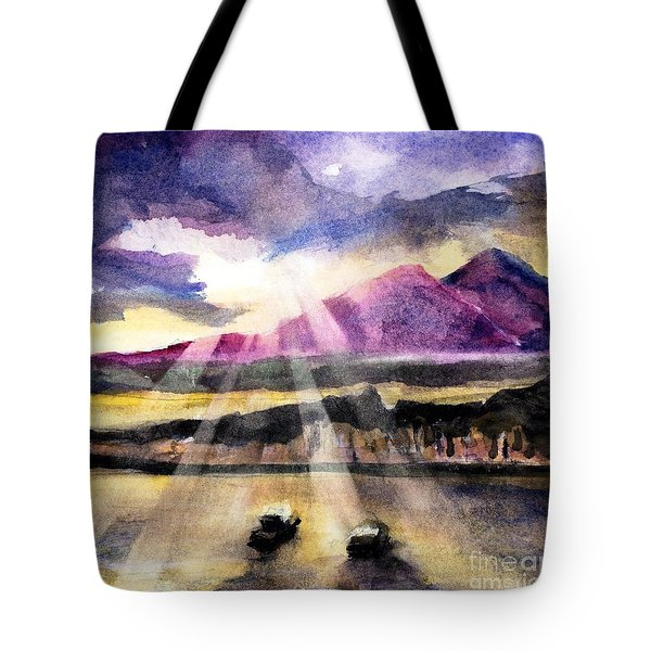 Mooring In Vancouver Tonight Tote Bag by Randy Sprout