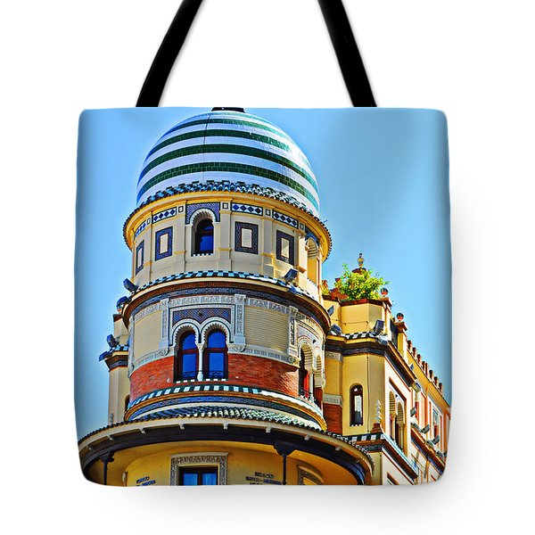 Moorish Tower With Hdr Processing Tote Bag