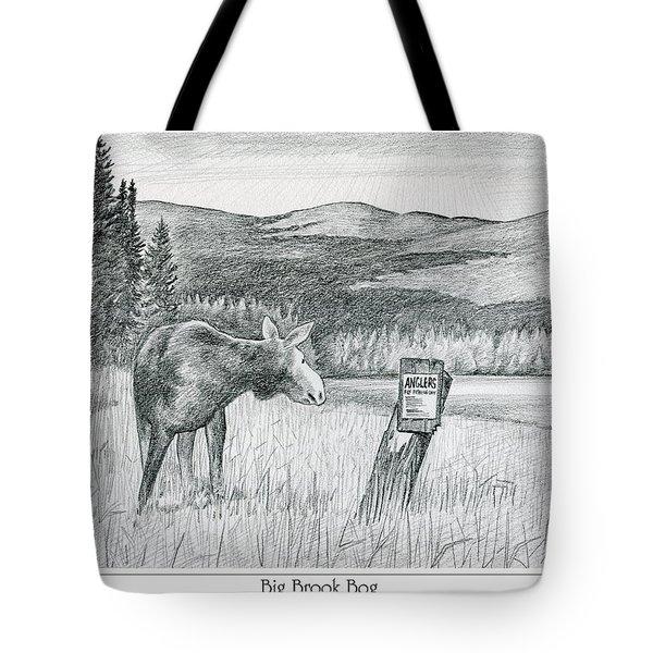 Moose At Big Brook Bog Tote Bag