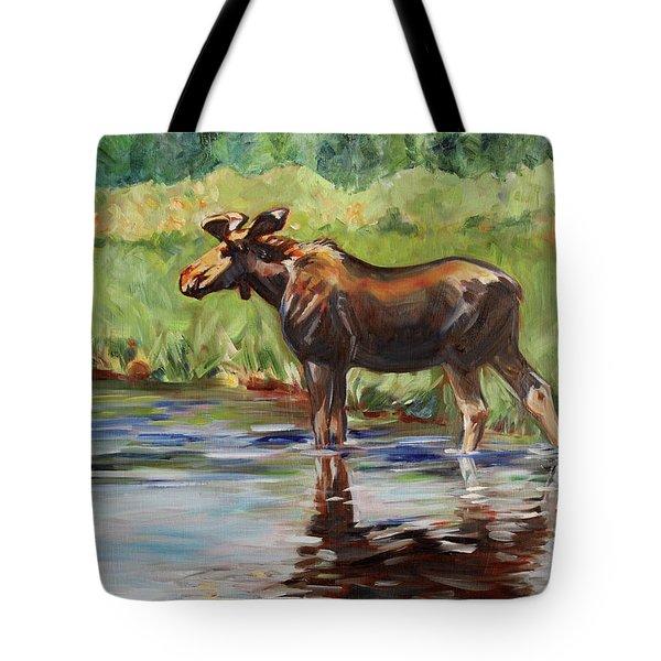 Moose At Henry's Fork Tote Bag
