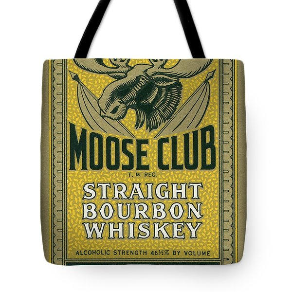 Moose Club Bourbon Label Tote Bag