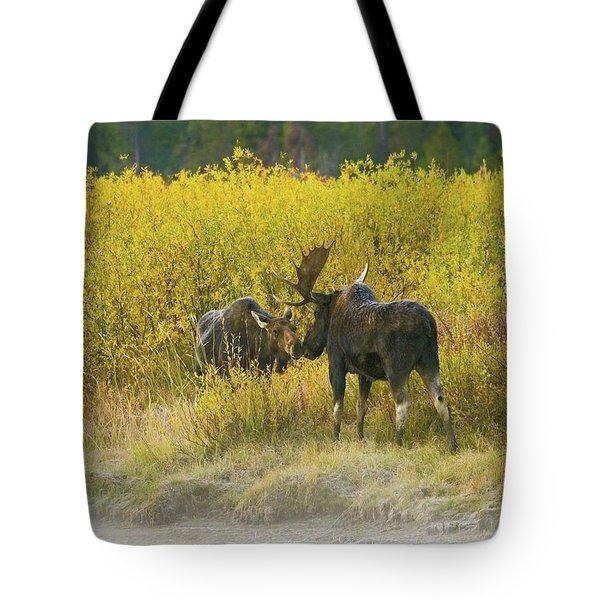 Moose Couple Tote Bag