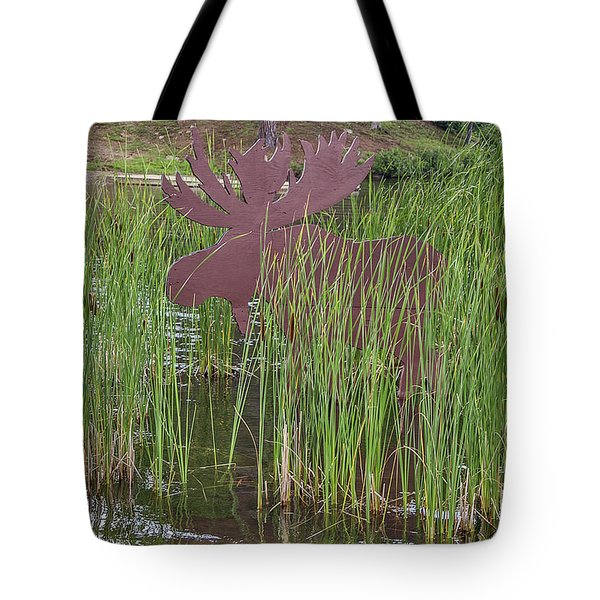 Tote Bag featuring the photograph Moose In Bulrushes by Sue Smith