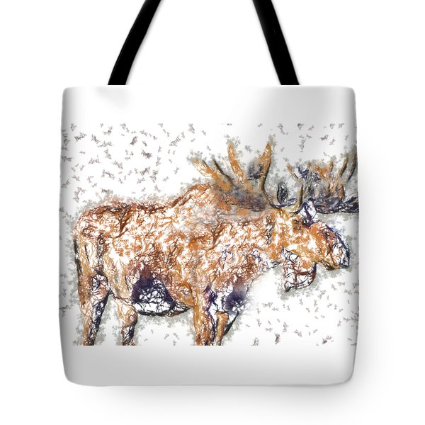 Moose-sticks Tote Bag