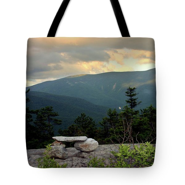 Moosilaukee View From Bench On Blueberry Mt. Tote Bag