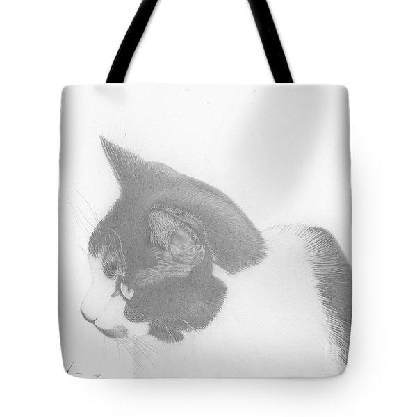 Moozie Cat Drawing Tote Bag