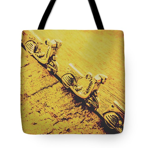 Moped Parking Lot Tote Bag