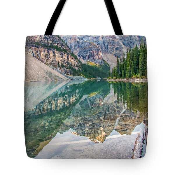 Tote Bag featuring the photograph Moraine Lake 2009 04 by Jim Dollar