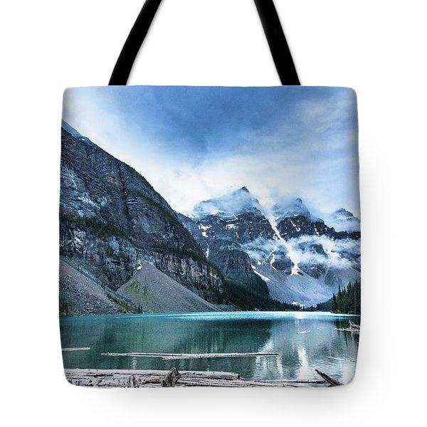 Moraine Lake Blues Tote Bag