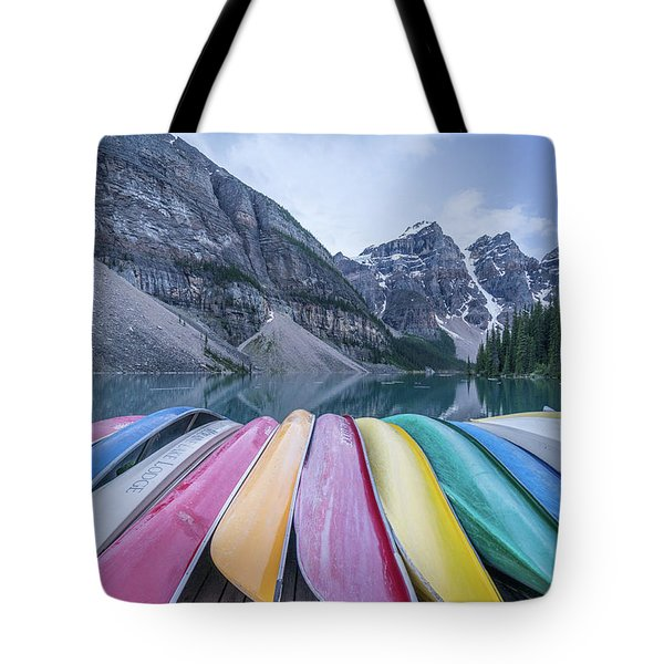 Moraine Lake Colors Tote Bag