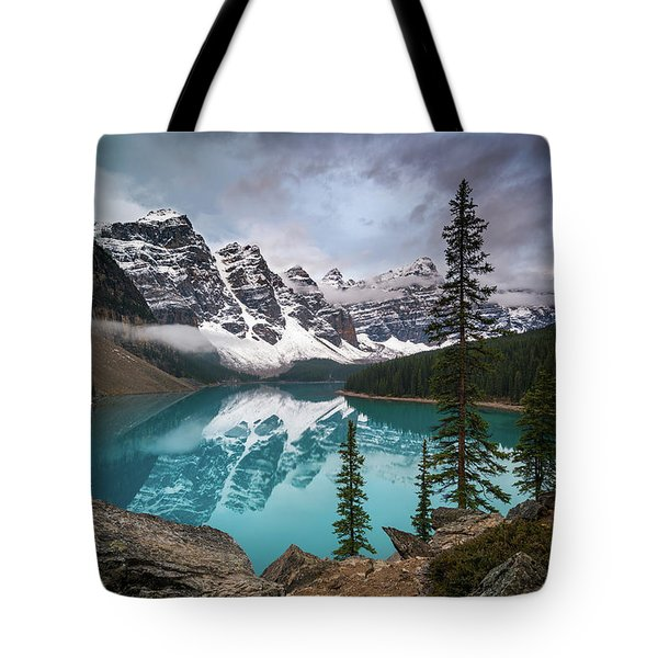 Moraine Lake In The Canadaian Rockies Tote Bag