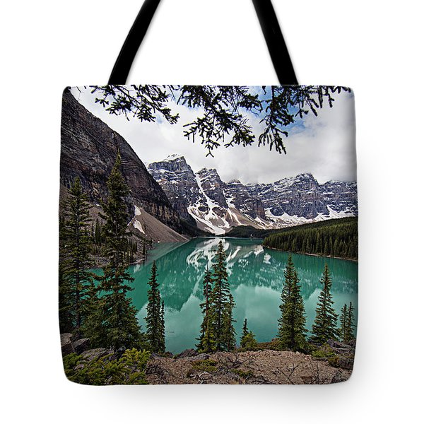 Tote Bag featuring the photograph Moraine Lake by Joe Paul