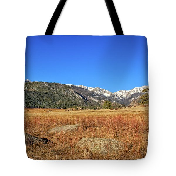Moraine Park In Rocky Mountain National Park Tote Bag by Peter Ciro