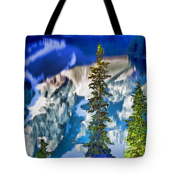Moraine Reflections Tote Bag