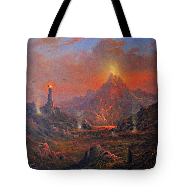 Mordor Land Of Shadow Tote Bag by Joe Gilronan