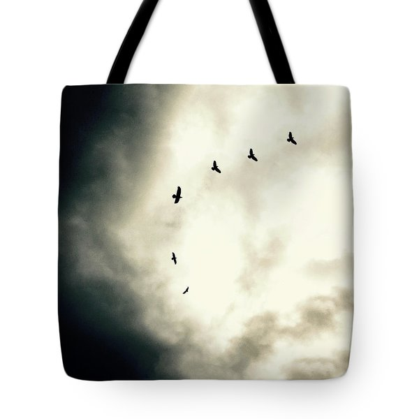 Big Sky Crows Tote Bag