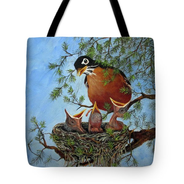 Tote Bag featuring the painting More Food by Roseann Gilmore