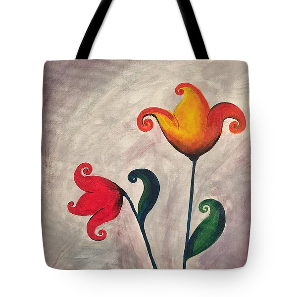 More Fun Flowers -a Tote Bag
