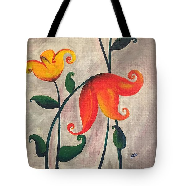 More Fun Flowers -b Tote Bag