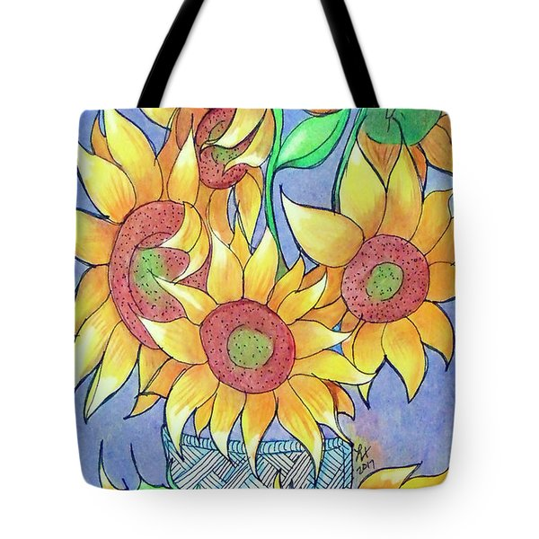 More Sunflowers Tote Bag by Loretta Nash