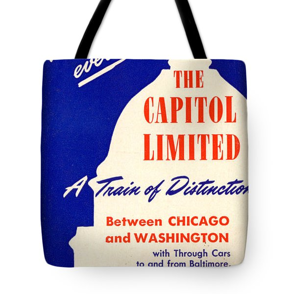 More Than Ever, The Capitol Limited Tote Bag