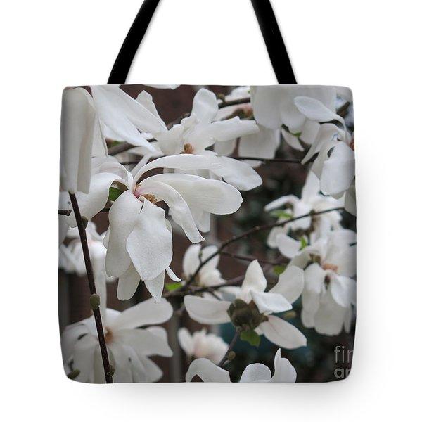 More White Blossoms Tote Bag