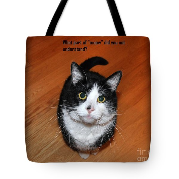 More Words From  Teddy The Ninja Cat Tote Bag by Reb Frost