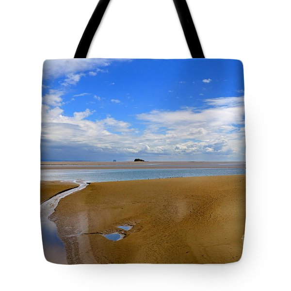 Morecambe Bay Cumbria Tote Bag by Louise Heusinkveld