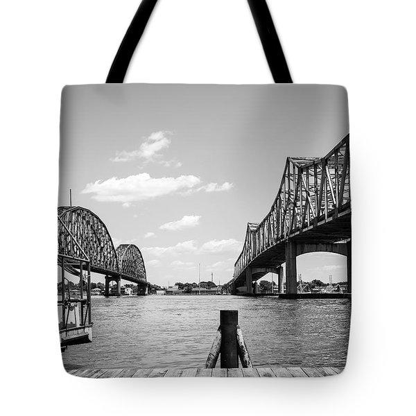 Morgan City Bridges 2 Tote Bag