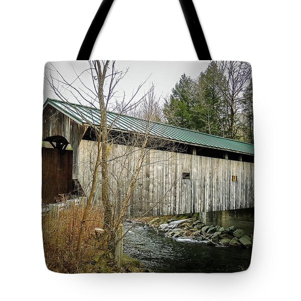 Morgan Covered Bridge Tote Bag