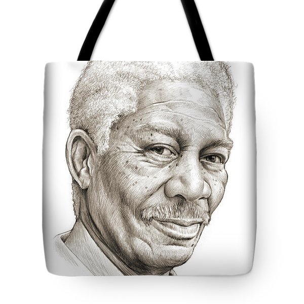 Morgan Freeman Tote Bag