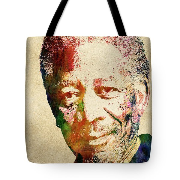 Morgan Freeman Tote Bag by Mihaela Pater