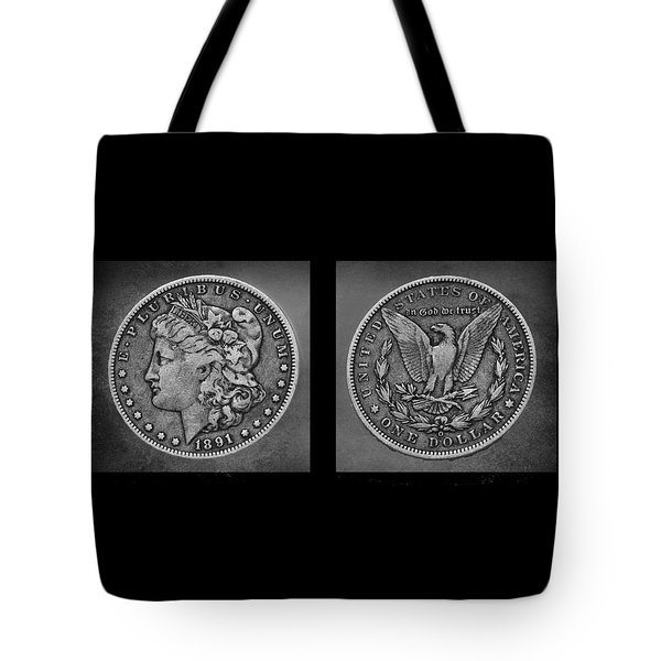 Morgan Silver Dollar--1891 Tote Bag