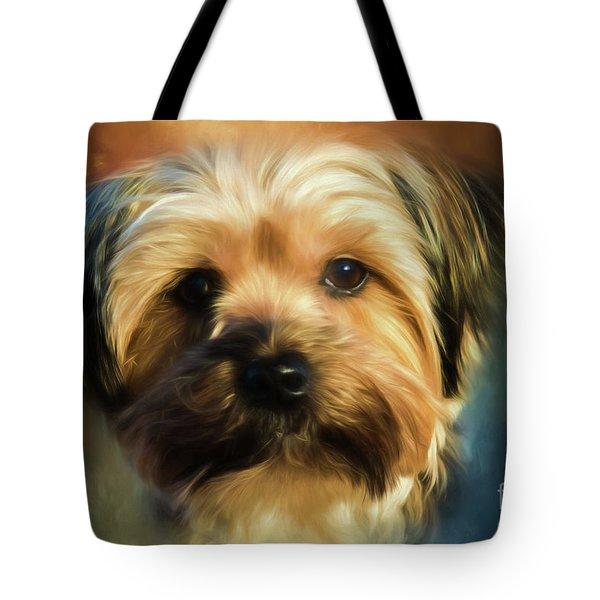 Morkie Portrait Tote Bag