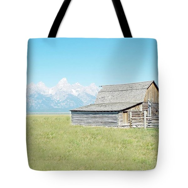 Mormon Row Barn - Grand Tetons Tote Bag by Joseph Hendrix