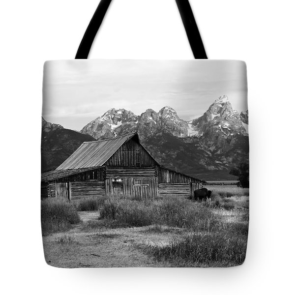 Mormon Row Famous Barn Tote Bag by Teresa Zieba