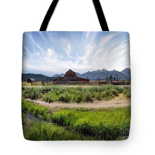 Mormon Row Morning Tote Bag