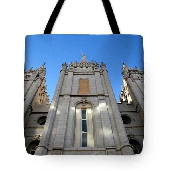 Mormon Temple Tote Bag by David Lee Thompson