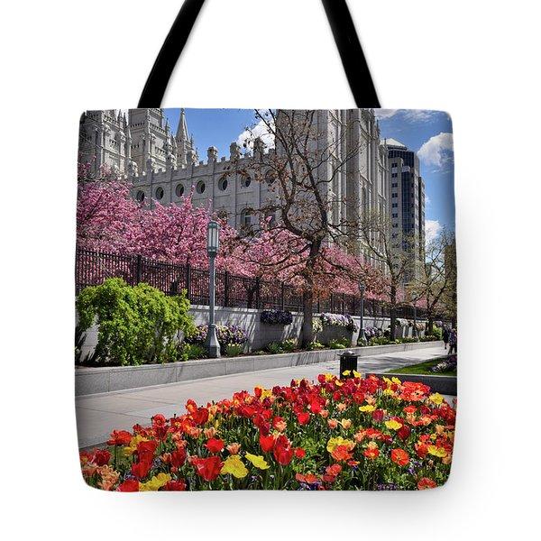 Mormon Temple Tote Bag