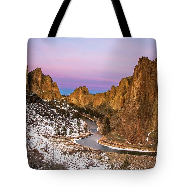 Mornign Colors At Smith Rock State Park Tote Bag