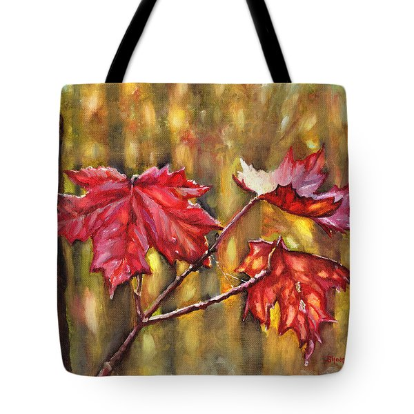 Morning After Autumn Rain Tote Bag