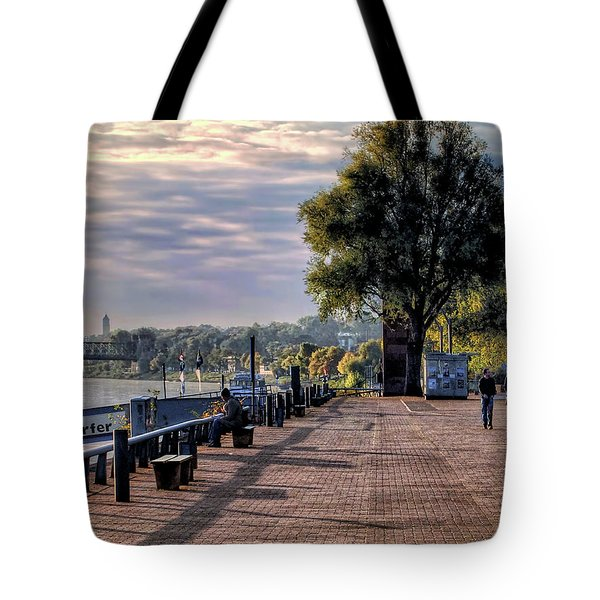 Tote Bag featuring the photograph Morning Along The Rhine by Jim Hill