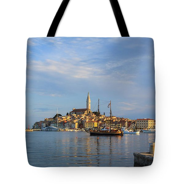 Tote Bag featuring the photograph Morning Aquarelle In Rovinj by Davorin Mance