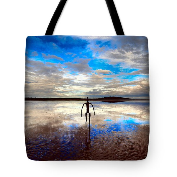 Morning Arrival At Lake Ballard Tote Bag