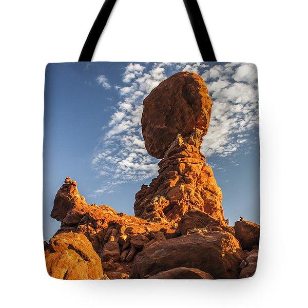 Morning At Balance Rock Tote Bag