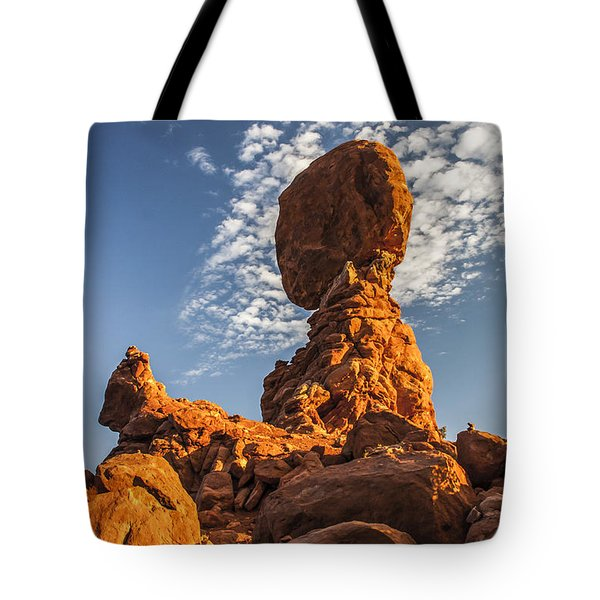 Morning At Balance Rock Tote Bag