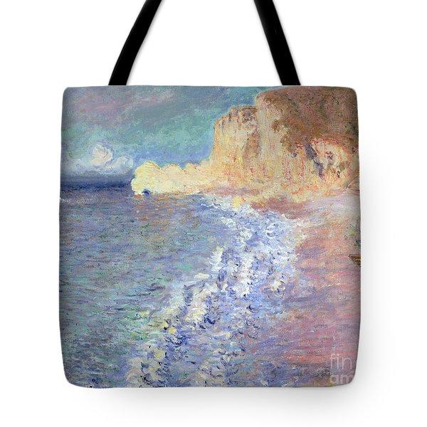 Morning At Etretat Tote Bag by Claude Monet