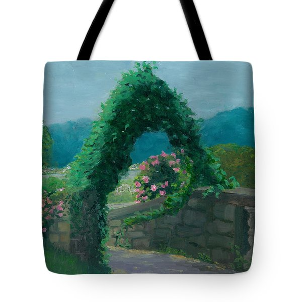 Morning At Harkness Park Tote Bag by Paula Emery